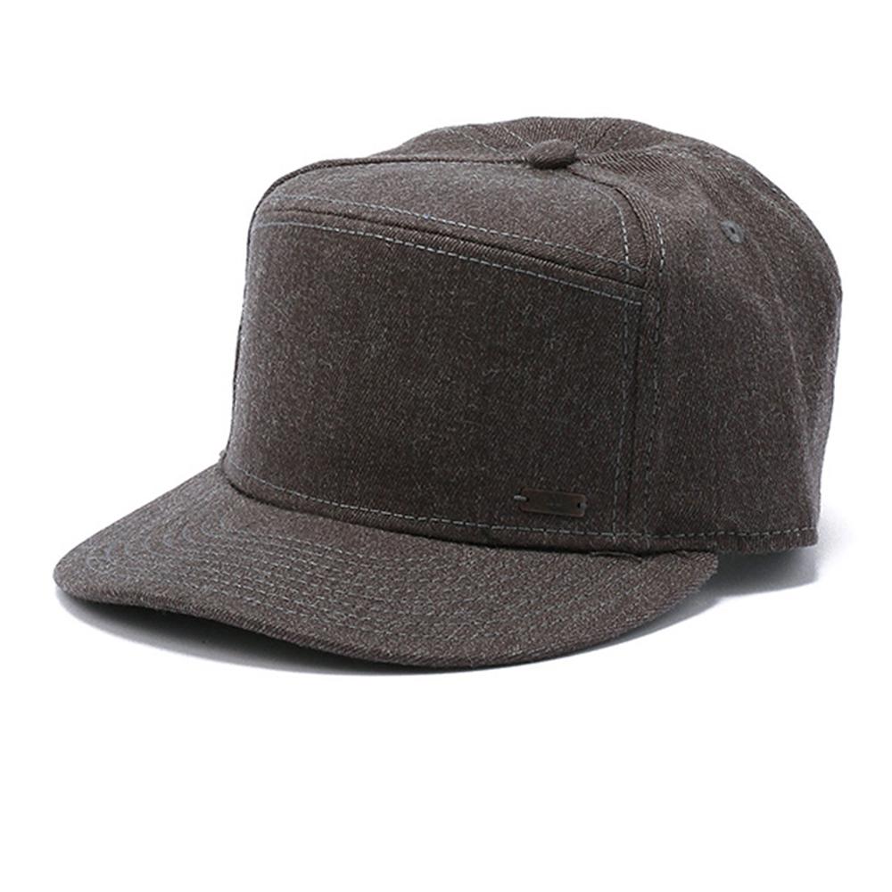 Timberland深灰色法蘭絨六分割棒球帽