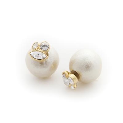 JewCas Cotton Backcatch系列水晶珍珠耳環_JC1688