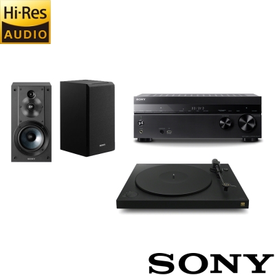 SONY 家庭劇院組 (STR-DH770+黑膠PS-HX500+SS-CS5書架喇叭)