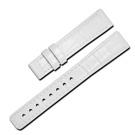 Watchband /SEIKO LUKIA 精工 壓紋牛皮替用錶帶- 白色/15mm