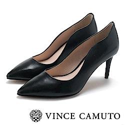 Vince Camuto 曲線素面性感高跟鞋-黑色