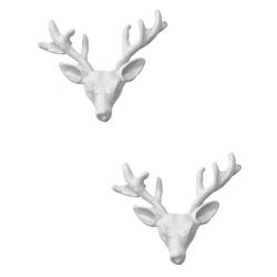 Wildfox Couture 美國品牌 立體 麋鹿頭 雪白耳環 白色