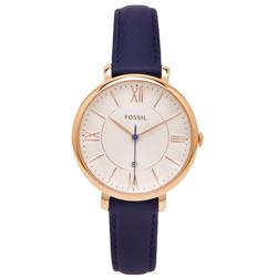 FOSSIL  淡香檳優雅風的皮革女性手錶(ES3843)-香檳色面/35mm