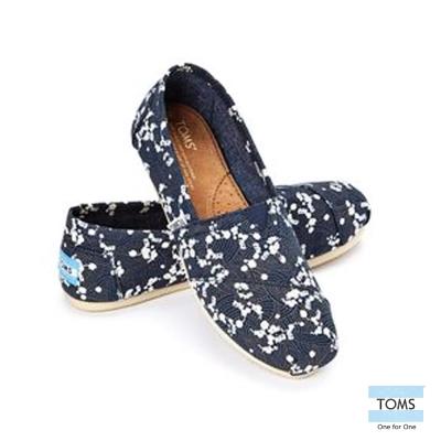 TOMS 經典碎花懶人鞋-女款(深藍)