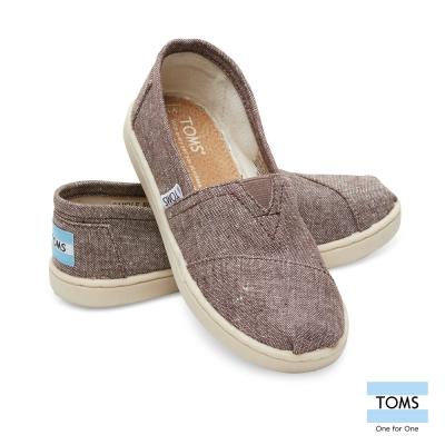TOMS 簡約帆布懶人鞋-孩童款(灰)