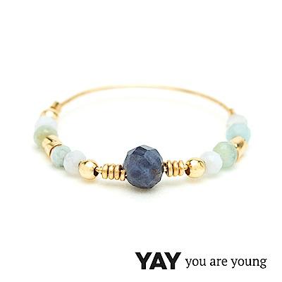 YAY You Are Young 法國品牌 Cleo 藍寶石戒指 雙色款 金色
