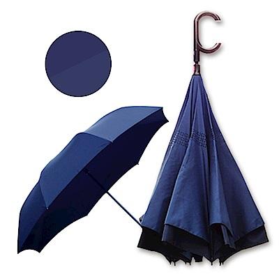 好雅也欣-雙層傘布散熱專利反向傘-C把系列-深邃藏藍