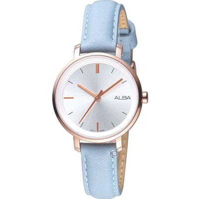ALBA 雅柏氣質女孩時尚腕錶(AH8486X1)藍/30mm
