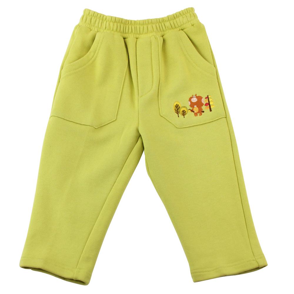 愛的世界 MYBEAR 森林家族純棉鬆緊帶長褲/3-4歲-台灣製-