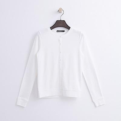 Hang Ten - 女裝 - 圓領開襟外套-白色