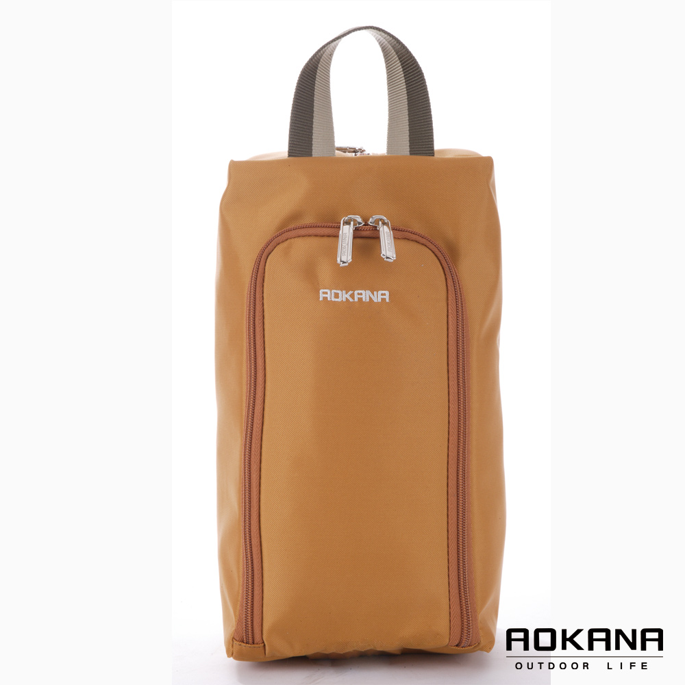 AOKANA奧卡納 MIT台灣製 旅行鞋袋 便攜收納包(焦糖棕)02-027