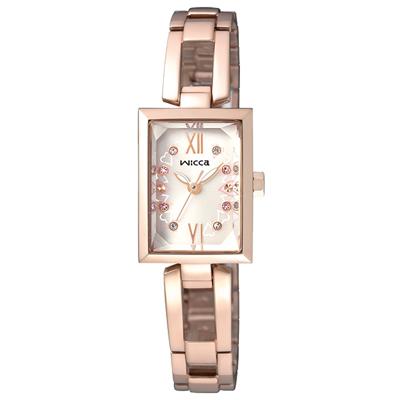 CITIZEN WICCA 愛圍繞氣質時尚腕錶(BE1-020-21)-玫瑰金/18mm