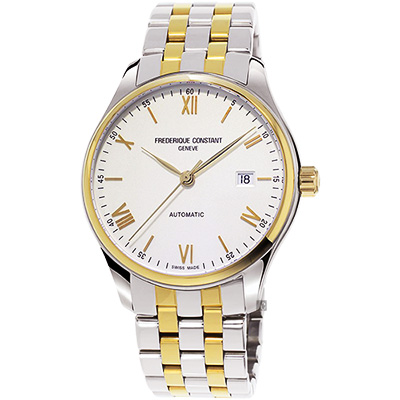 CONSTANT康斯登 CLASSICS百年典雅機械錶 -銀x雙色版/40mm