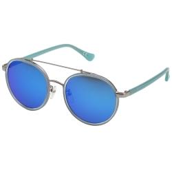 Calvin Klein- 韓版系列 水銀面 太陽眼鏡(銀配藍)CK1225SK
