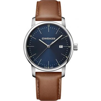 WENGER Urban 都會系列 經典紳士錶(01.1741.111)藍/42mm