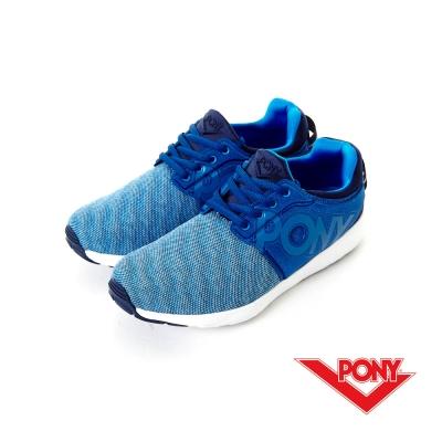 PONY- FLUFFY LITE系列-舒適休閒鞋-藍-男