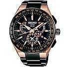 SEIKO精工 ASTRON 8X53 雙時區鈦GPS衛星定位手錶(SBXB126J)