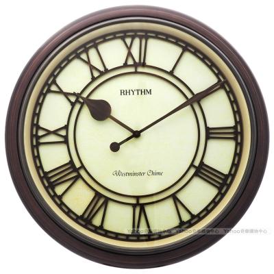 RHYTHM麗聲 復古羅馬字整點報時座鐘/41cm