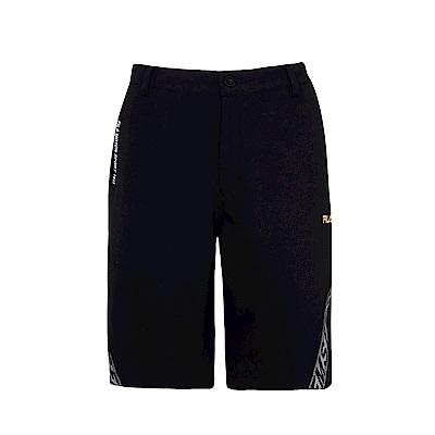 FILA 男平織短褲-黑 1SHS-1452-BK