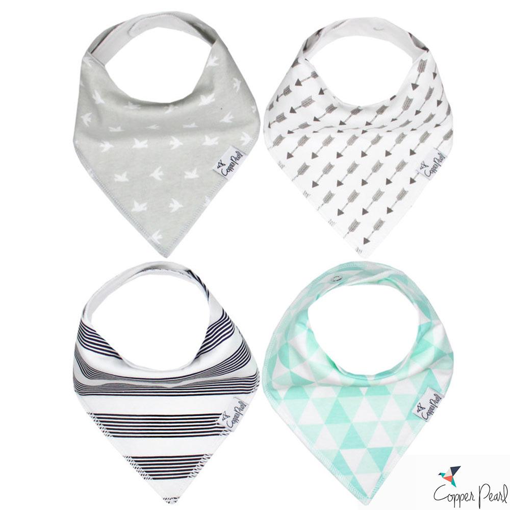 Copper Pearl 美國 幾何印地安雙面領巾圍兜口水巾4件組