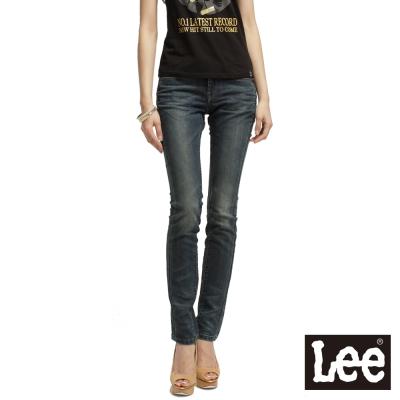 Lee-Diamond-Cut-488-Ana緊身直筒牛仔褲-女款-中古藍