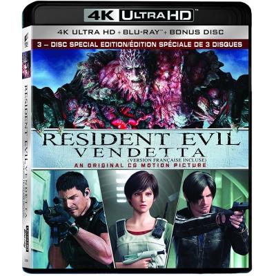 惡靈古堡:血仇  4K UHD+BD+BONUS 3碟限定版 藍光 BD