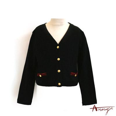貴族質感鈕扣開襟外套*2277黑