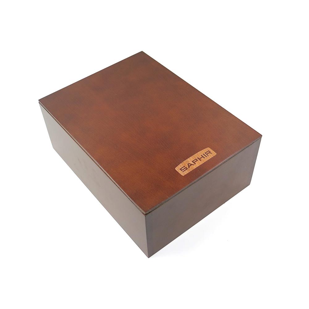 糊塗鞋匠 優質鞋材 G106 SAPHIR櫸木滑蓋收納盒(一個)