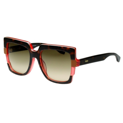 FENDI 時尚太陽眼鏡 (琥珀色)FF0062S