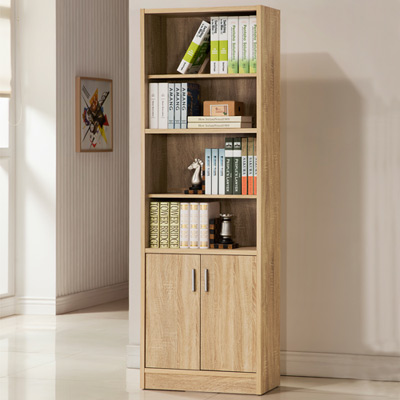 COMDESK六段雙門厚板書櫃DIY(兩色可選)-60*29*180cm
