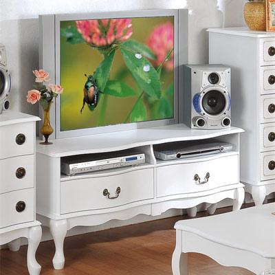 英式古典-電視櫃-白色