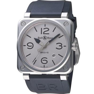 Bell& Ross經典飛行械機限量腕錶(BR0392-GBL-ST/SRB)-42mm