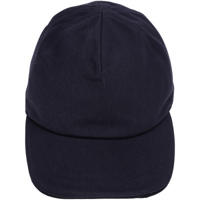BALLY 麂皮拼接棒球帽(黑夜藍)