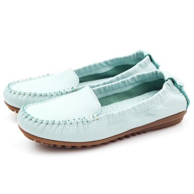 G.Ms.MIT系列-極好穿超軟Q全牛皮莫卡辛鞋-淺水藍