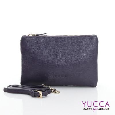 YUCCA 萬用多夾層手拿斜背小包 - 紫色 D014868