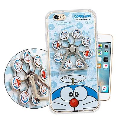 哆啦A夢正版授權 iPhone 6s/6 4.7吋 指環扣防摔支架手機殼(表情摩...