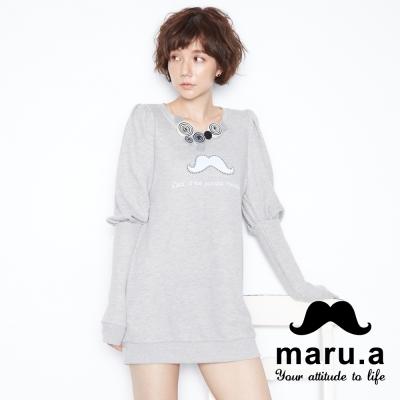 maru-a麻洛野-LOGO設計公主袖洋裝