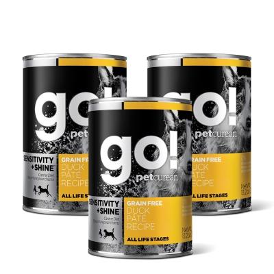Go! 天然主食狗罐-豐醬系列-無穀鴨肉-12件組