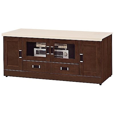 H&D 艾菲爾胡桃色5尺長櫃 (寬145.5X深48X高63.6cm)
