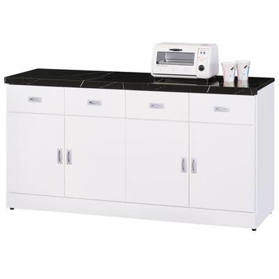 時尚屋亞泰純白5.3尺石面碗盤櫃