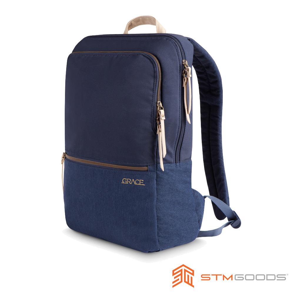 澳洲STM Grace Pack 15吋優雅時尚筆電後背包 - 深夜藍