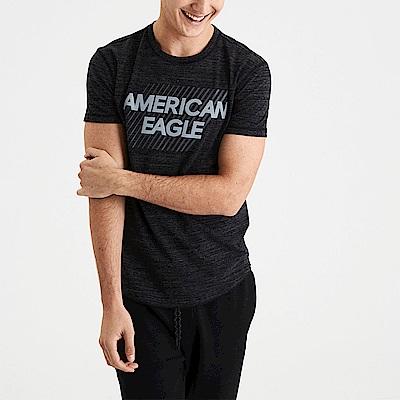 AEO 美國老鷹 文字印刷設計短袖T恤-麻花黑色 Amercan Eagle