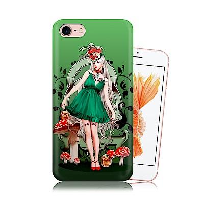 張小白 iPhone 8/7 4.7吋 古典奇幻插畫 滿版空壓保護殼(孤單芭蕾)