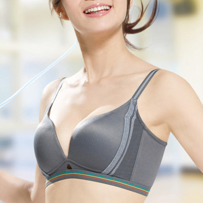 運動內衣-城市輕運動系列B-E罩杯內衣-冰灰-華歌爾