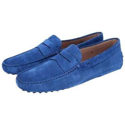 TOD'S 經典麂皮豆豆樂福鞋(藍色/男鞋)