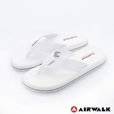 【美國 AIRWALK】柔軟輕量夾腳人字拖鞋 男款(白色)