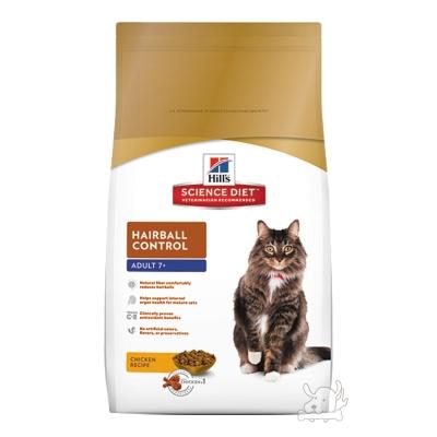 Hill's 希爾思 熟齡貓 化毛專用配方 乾糧 4公斤
