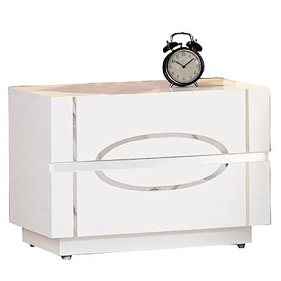 品家居 圖特佳1.9尺二抽床頭櫃-57x40x40cm-免組