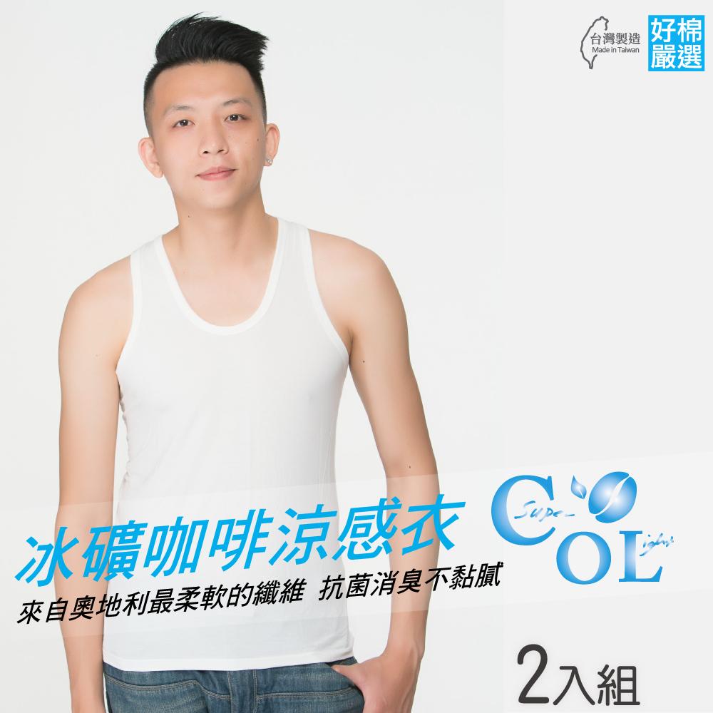 好棉嚴選 台灣製 冰涼感紗 男圓領U領內衣 背心無袖2入 (吸濕排汗除臭)