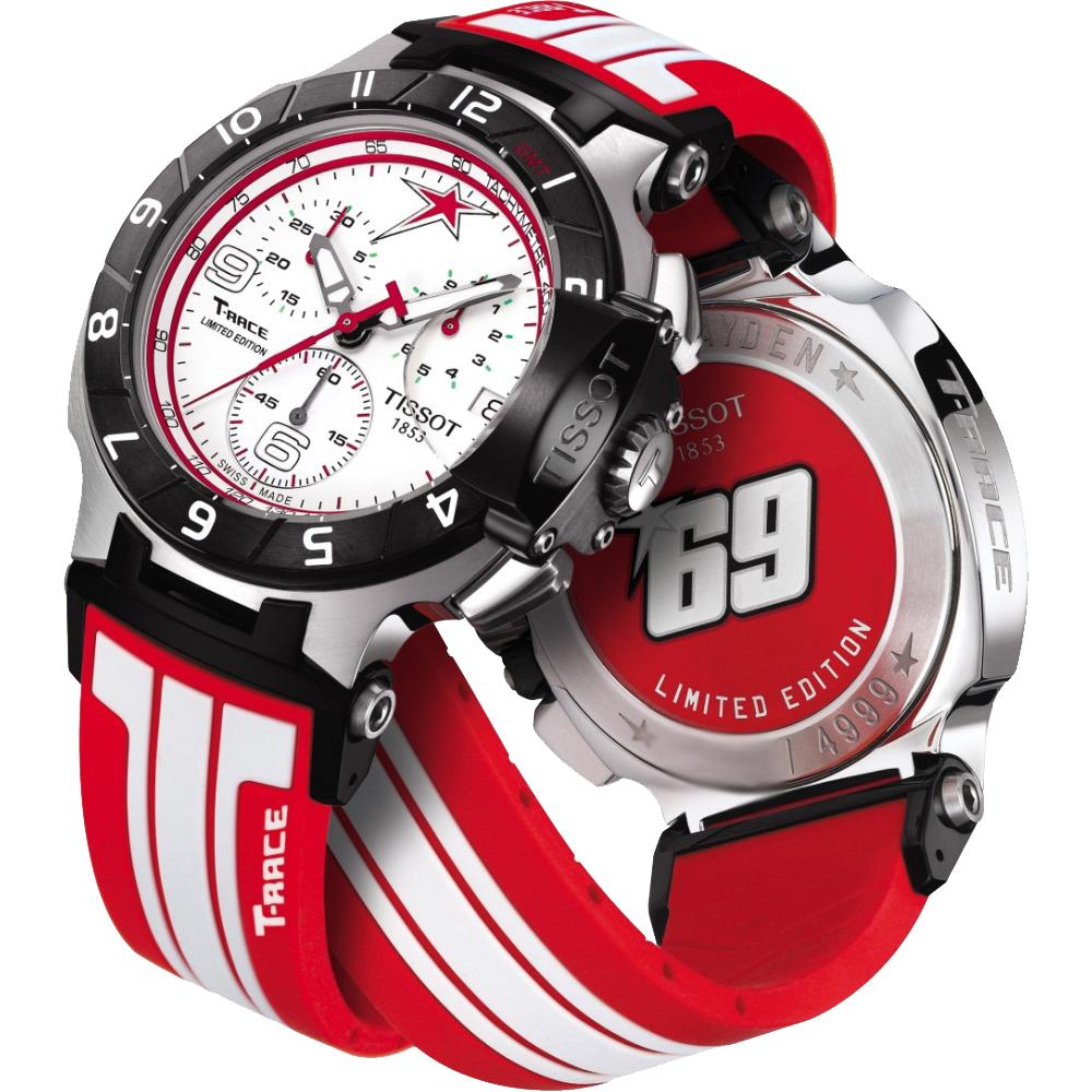 TISSOT T-Race Nicky Hayden限量賽車計時腕錶-白x紅/45mm @ Y!購物